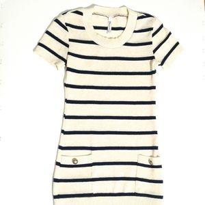 🌸LikeNew🌸 Sweater Dress | Navy & Cream